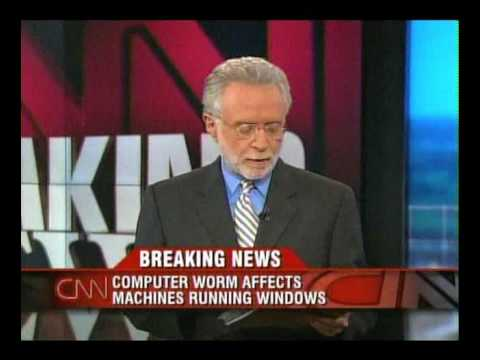 August 2005: Computer worm 'Zotob' infects CNN TV