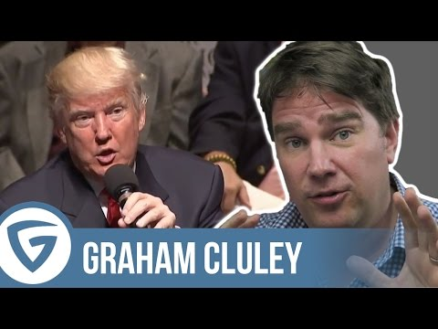 """Donald Trump says """"the cyber"""" is so big now 