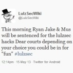 Hackers threaten revenge if LulzSec hackers are given stiff sentences today