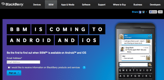 BBM is coming to Android and iOS