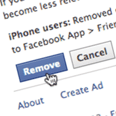Facebook remove contacts