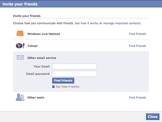 how to know my email address in facebook