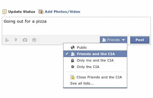 Joke Facebook settings