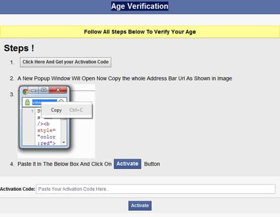 Age verification dialog
