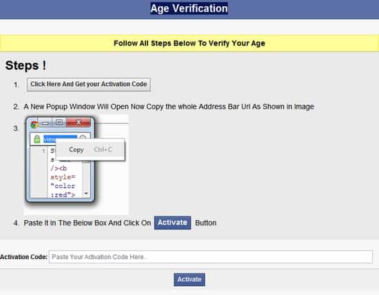 Age verification dialog