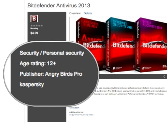 Angry Birds sell BitDefender?