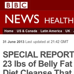 Don't be tricked by this fake 'BBC' website. Miracle diet spammers post fake news stories