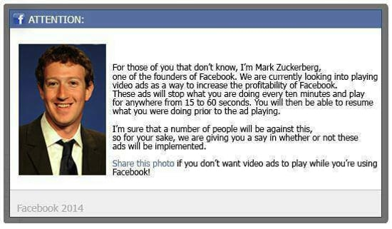 Facebook video ads hoax