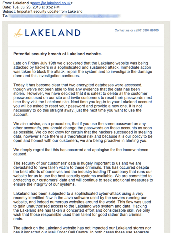 Lakeland security breach