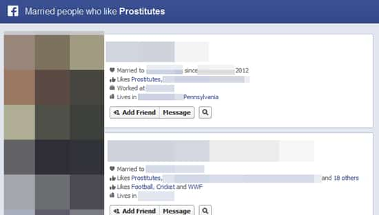 how to find prostitutes on facebook