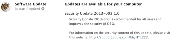 Mac OS X Security Update