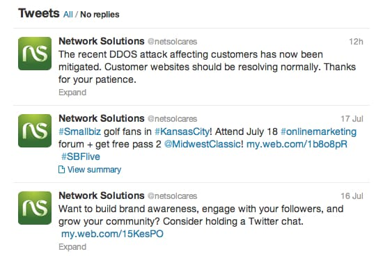 Network Solutions cares?