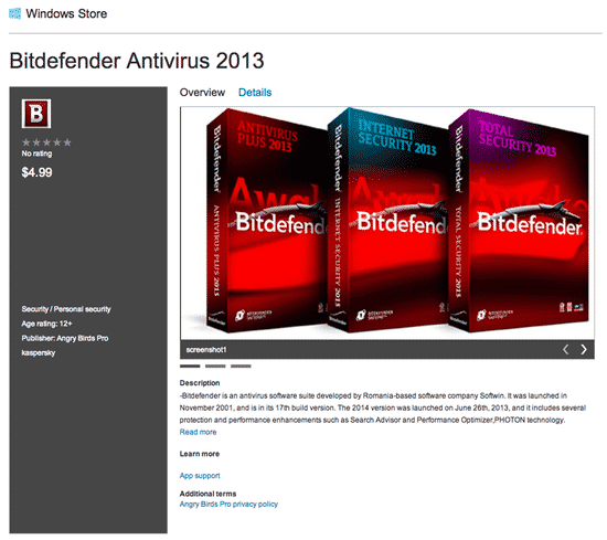 This is not BitDefender