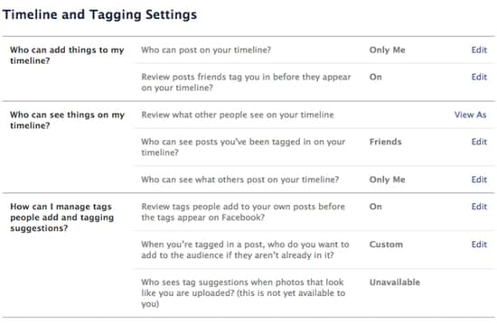 More Facebook privacy settings