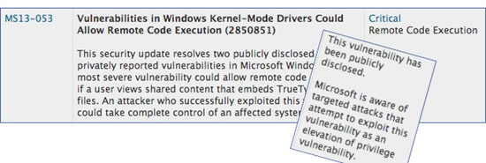 Exploit publicly disclosed