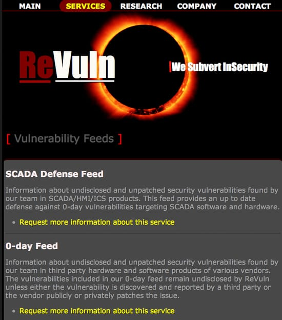 Revuln website
