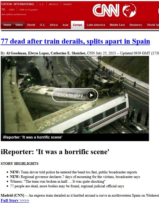 Spanish train disaster - malicious email