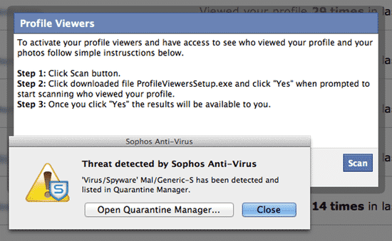 Malicious threat detected
