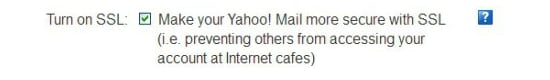 Yahoo Mail SSL option