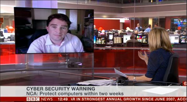Graham Cluley on BBC News