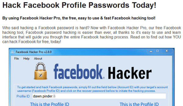 hack facebook profile passwords today by using facebook hacker pro the ...
