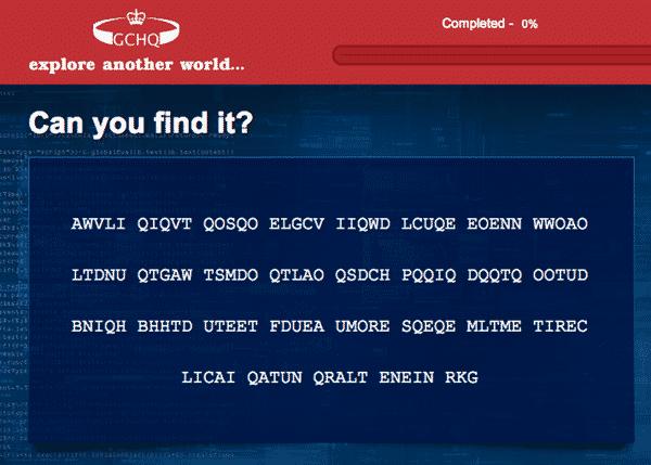 GCHQ puzzle