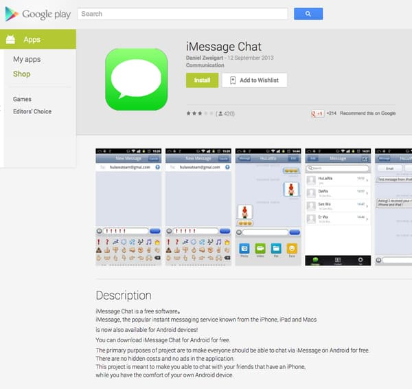 Unofficial iMessage App For Android Available For Download