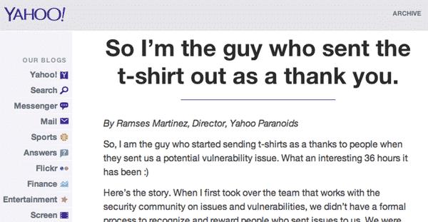 Yahoo bug bounty