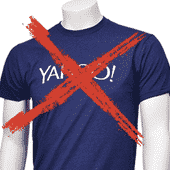 No Yahoo t-shirt. Sorry