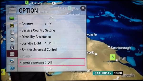 LG options screen. Source: DoctorBeet