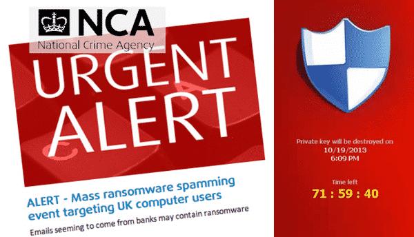 NCA alert on CryptoLocker