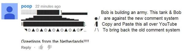 YouTube ASCII art spam