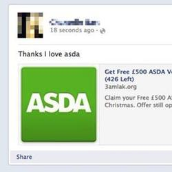 Free ASDA Voucher scam tries to ruin Christmas on Facebook