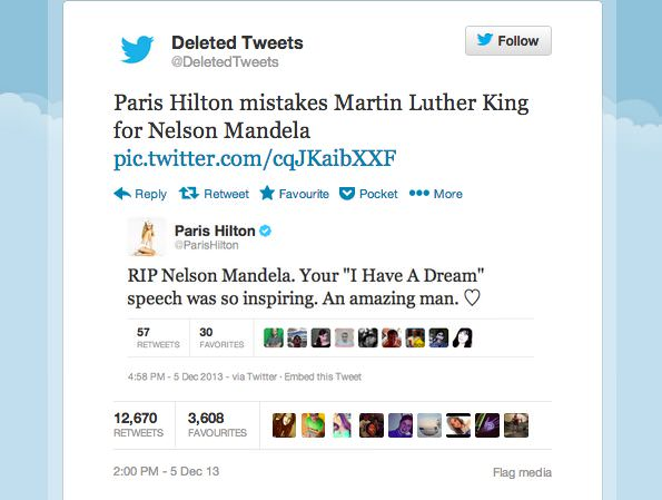 Fake Paris Hilton tweet