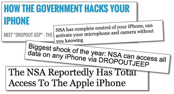 iPhone NSA headlines