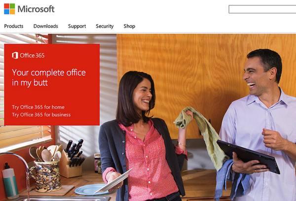 Microsoft Office in my butt