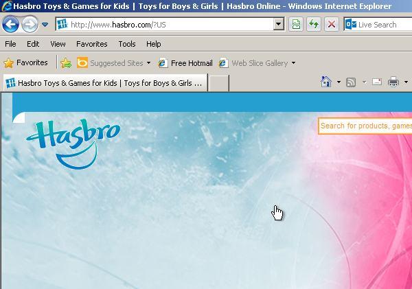 Hasbro website