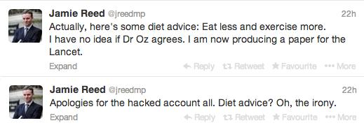 Jamie Reed diet spam