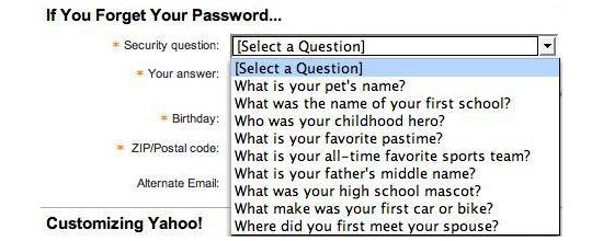 Password reminder