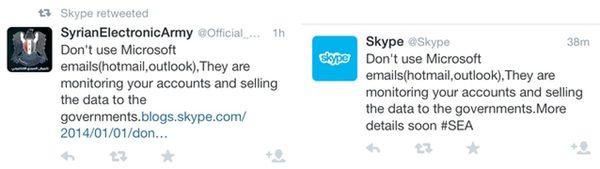 Hacked Skype account