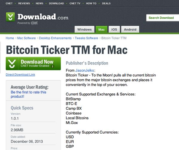 Bitcoin Ticker TTM
