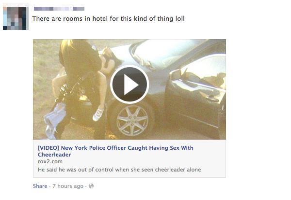 Police officer caught having sex with cheerleader Facebook scam ...: grahamcluley.com/2014/02/police-cheerleader-facebook