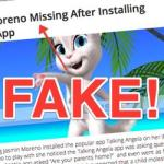 No, 7-year-old Eli Moreno wasn't abducted after playing the Talking Angela app