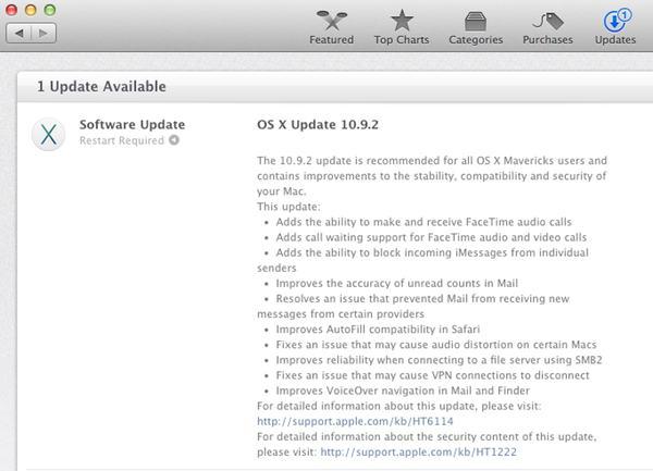 OS X 10.9.2 update
