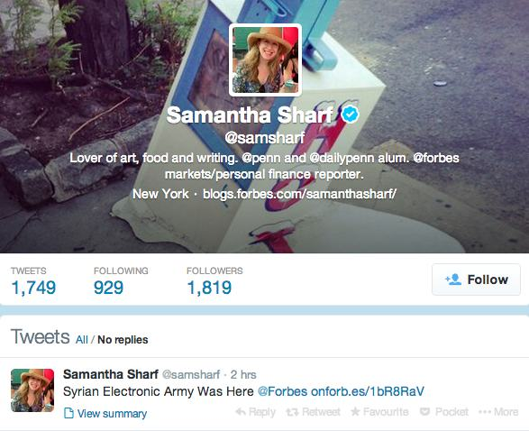 Samantha Sharf on Twitter