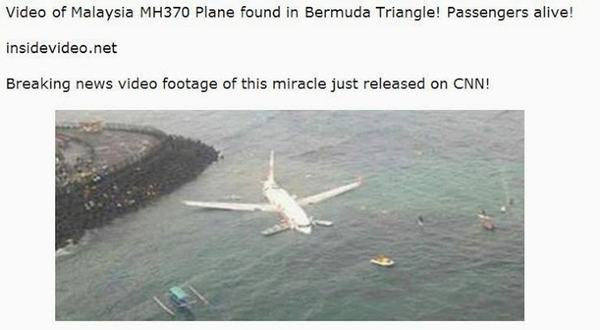 Malaysia Airlines video scam