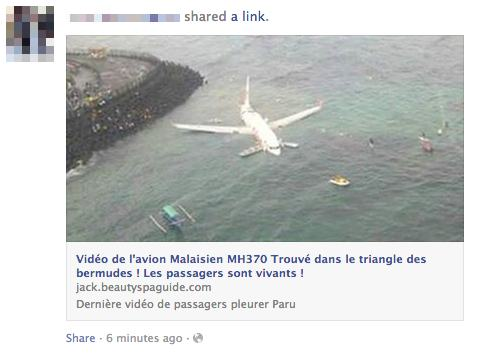 Another French Facebook scam