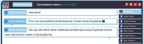 Encrypted Facebook Chat via Cryptocat