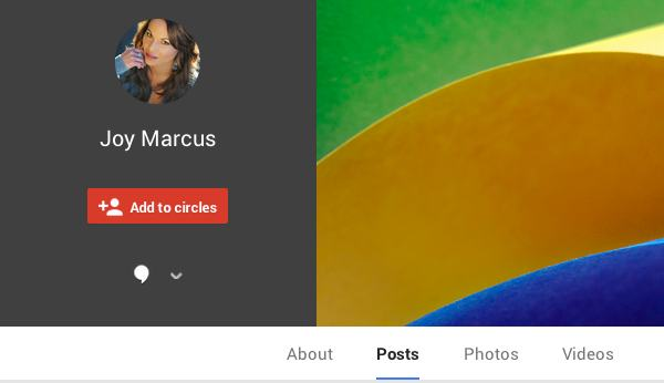 Joy Marcus on Google Plus